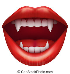 öppen trut, vampyr, lips.