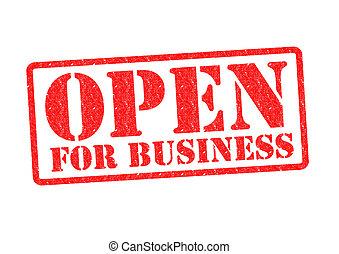 öppna, affär