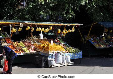 öppna, bönder marknadsför