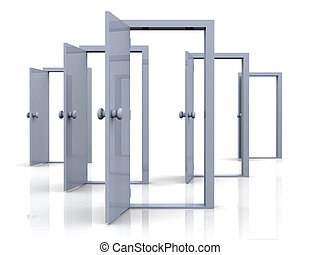 öppna, dörrar, -, possibi