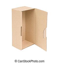 öppna, papp, box.