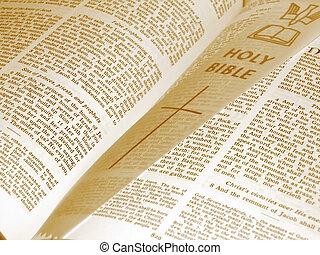 öppnat, bibel