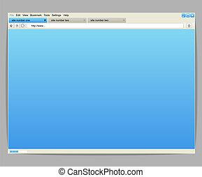 öppnat, innehåll, fönster, mall, några, browser