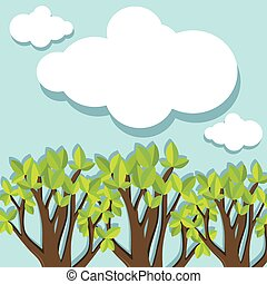 örökzöld, erdő, nappal