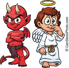 ördög, angyal