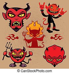 ördög, karikatúra, gyűjtés