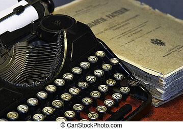 öreg, írógép