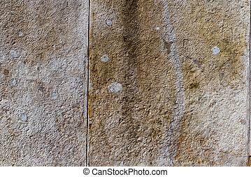 öreg, ősi, fal, struktúra, becsuk, feláll., városi, példa