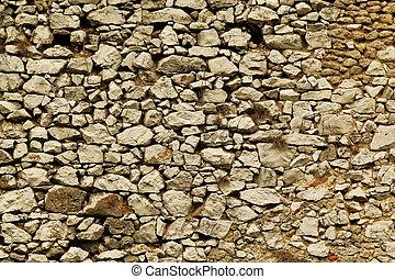 öreg, ősi, kőfal