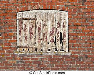 öreg, ajtó, istálló