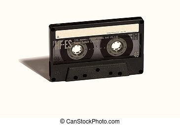 öreg, audio, szalag