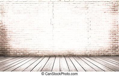 öreg, emelet, fal, erdő, háttér, tégla, piros