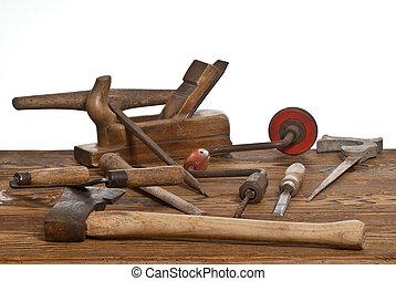 öreg, eszközök