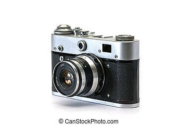 öreg, fénykép, cameras