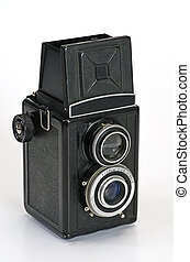 öreg, fényképezőgép, fénykép