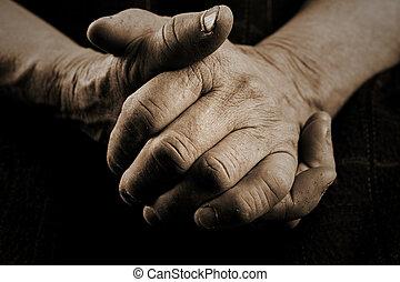 öreg, kézbesít