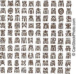 öreg, kínai, levél
