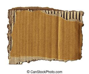 öreg, kartonpapír, darabka