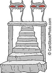 öreg, lépcsőfok