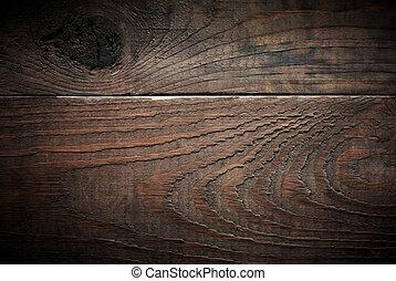 öreg, planks., erdő, háttér.