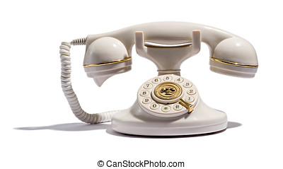 öreg, retro, telefon