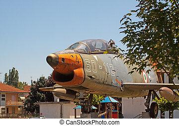 öreg, sugárhajtású repülőgép