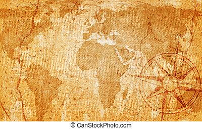 öreg, térkép