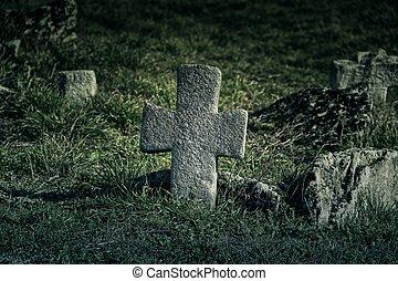 öreg, temető