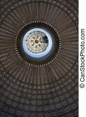 öreg templom, alatt, a, középcsatár, közül, szanatórium, nicolas