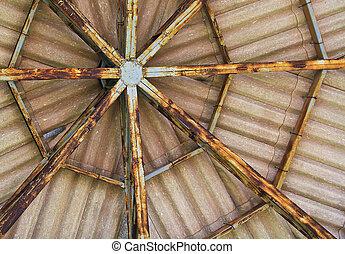öreg, tető alak