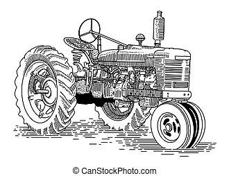 öreg, traktor