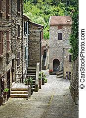 öreg, utca, olaszország