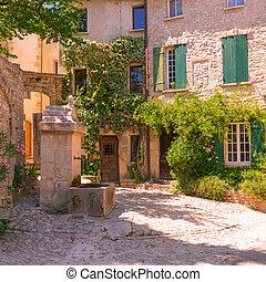 öreg város, alatt, provence