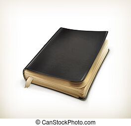 öreg, vektor, könyv