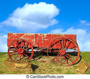 öreg, wagon., piros