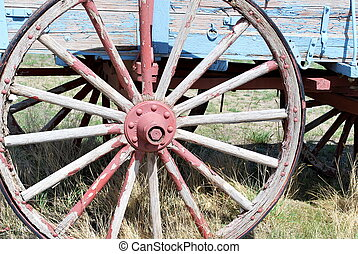 öreg, western, wagon.