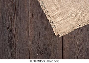 öreg, zsákvászon, wood., struktúra