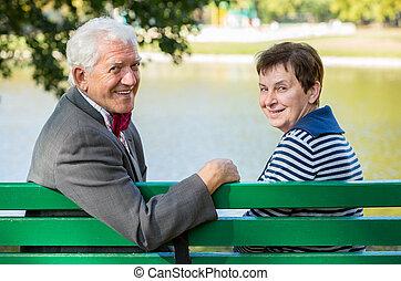 öregedő, férj, feleség