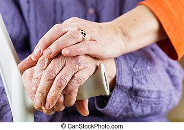 öregedő, kézbesít, maradék on, bot