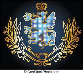 örn, heraldisk, emblem, underbar