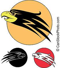 örn, symbol, fågel