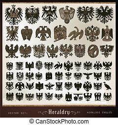 örnar, heraldisk