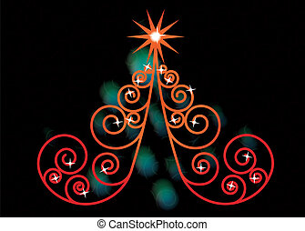 örvény, fa, karácsony