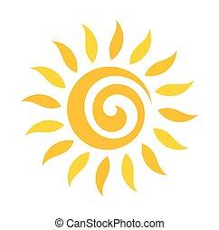 örvény, nap, ikon