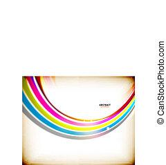 örvény, szivárvány, elvont, színes, háttér