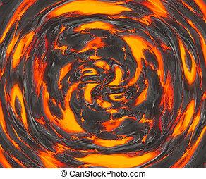 örvénylik, magma