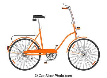 összecsukható, bike.