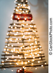 összefut., fa, karácsony, ki