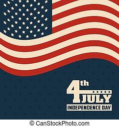 összehangol megállapít lobogó, 4 july, amerika, nap, szabadság