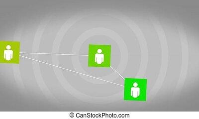 összeköttetés, fogalom, hálózat, társadalmi